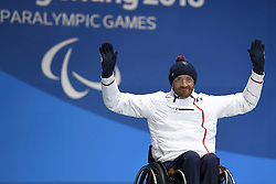 FRANCOIS_Frederic, Para Alpine Skiing, ParaSkiAlpin, Super Combined, Podium at  the PyeongChang2018 Winter Paralympic Games, South Korea.