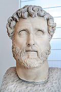 Antoninus Pius (86-161 AD). 15th emperor of Roman Empire. Nerva-Antonine Dynasty, 2nd century. National Archaeological Museum. Naples. Italy