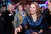 "11 DECEMBER 2011 - SCOTTSDALE, AZ:    Congresswoman and Republican Presidential hopeful MICHELE BACHMANN (R-MN) works the crowd at a fundraiser sponsored by Politics on the Rocks at the Mint in Scottsdale, Sunday. The Mint is a popular bar and restaurant built in a former bank in Scottsdale, AZ. Politics on the Rocks was started by Charles A. Jensen in Scottsdale, Arizona. The purpose of ""Politics on the Rocks"" is to bring Republican & Conservative Professionals together in a monthly happy hour where they can network, socialize, and hear directly from prominent politicians and successful business leaders.      PHOTO BY JACK KURTZ"