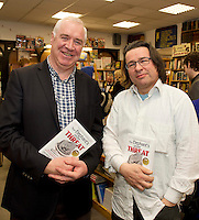 Founder of the Expect Success Academy, Galway based business and marketing strategist John Mulry launched his first book Your Elephant's Under Threat. At the launch was Myles McHugh and Vinny Browne, from Charlie Byrne's Book shop <br /> Your Elephant's Under Threat will be available from www.amazon.com and Charlie Byrne&rsquo;s Bookshop Galway from February 28th and retails at &euro;19.99<br /> &nbsp;Photo:Andrew Downes