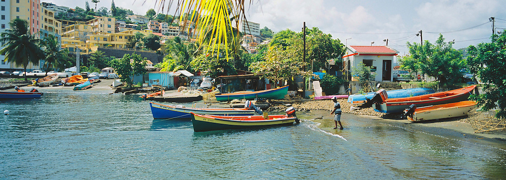 While fishing is a profession on the decline, colorful fishing boats remain a common sight in Fort de France, the main town on the island of Martinique in the French West Indies.