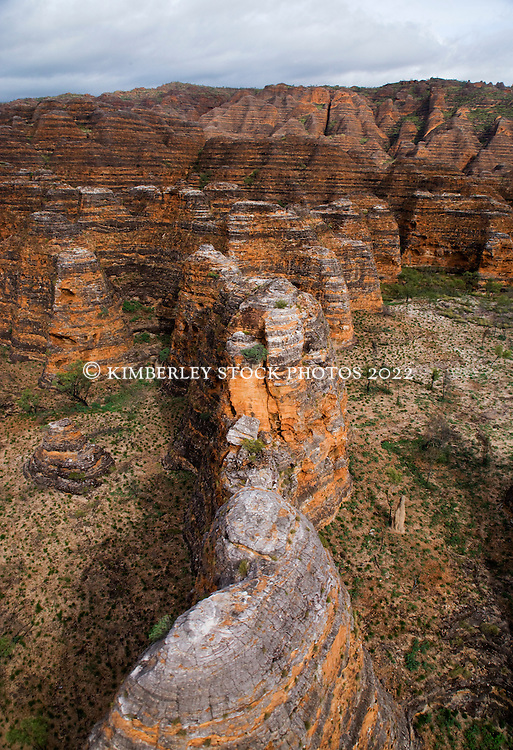 Aerial view of the Bungle Bungles in Purnululu National Park.