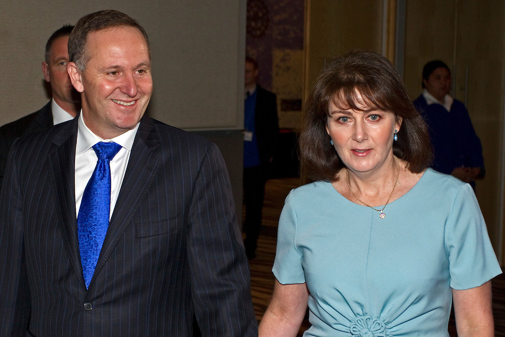 Prime Minister and Party Leader John Key arrives with his wife Bronagh at the 76th National Party Annual Conference, Auckland, New Zealand, Sunday, July 22, 2012.  Credit:SNPA / David Rowland