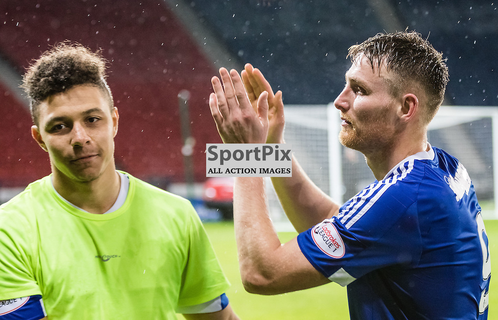 Peterhead goal scorers Leighton McIntosh and Rory McAllister after the Queen's Park FC V Peterhead FC Petrofac Training Cup semi-final played at Hampden Park, Glasgow on 14th November 2015; (c) BERNIE CLARK | SportPix.org.uk