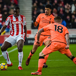 Stoke City defender Kurt Zouma (6) during the Premier League match between Stoke City and Liverpool<br /> (c) John Baguley | SportPix.org.uk