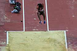London, 2017 August 07. Shanieka Ricketts in the women's triple jump final on day four of the IAAF London 2017 world Championships at the London Stadium. © Paul Davey.