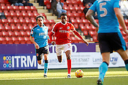 Charlton Athletic midfielder Joe Aribo (32) during the EFL Sky Bet League 1 match between Charlton Athletic and Fleetwood Town at The Valley, London, England on 4 February 2017. Photo by Andy Walter.