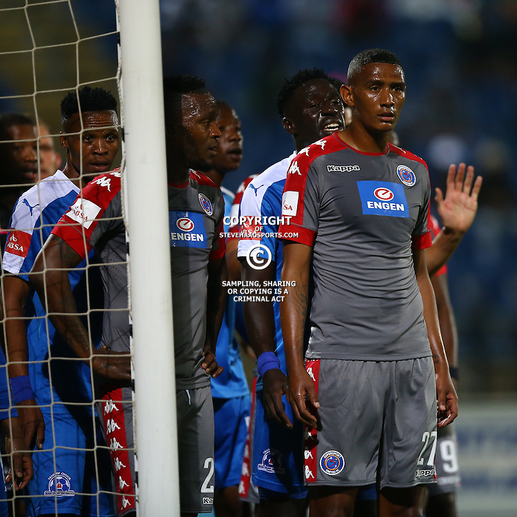 Mario Booysen of SuperSport United during the 2016 Premier Soccer League match between Maritzburg Utd and SuperSport United held at the Harry Gwala Stadium in Pietermaritzburg, South Africa on the 21st September 2016<br /> <br /> Photo by:   Steve Haag / Real Time Images