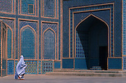 Worshipper Visiting Shrine of Hazrat Ali, the Blue Mosque, in Mazar-E Sharif, Afghanistan