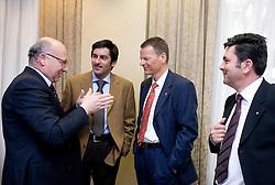 Bogdan Gabrovec, Marko Rajster, Tone Jagodic and Branko Znidaric at Meeting of OKS in Grand hotel Union, on March 23, 2009, Ljubljana, Slovenia. (Photo by Vid Ponikvar / Sportida)