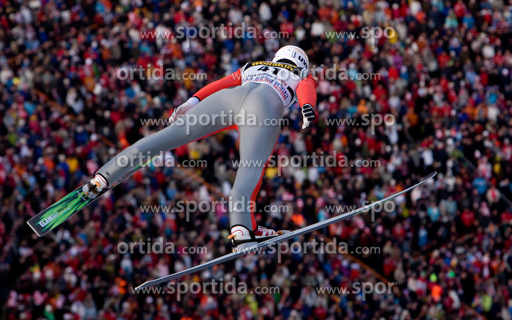 Mitja Meznar of Slovenia competes during First round of the FIS Ski Jumping World Cup event of the 58th Four Hills ski jumping tournament, on January 3, 2010 in Bergisel, Innsbruck, Austria.(Photo by Vid Ponikvar / Sportida)