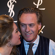 NLD/Amsterdam//20140324 - Filmpremière Yves Saint Laurent, Lauren Verster en partner Jort Kelder
