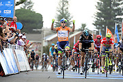 22.01.2016. Norwood, Australia. Tour Down Under cycling tour, stage 4 Norwood to Victor Harbor.  Orica Greenedge; 2016, Team Sky; Gerrans Simon; Swift Ben at the finish line in Victor Harbor