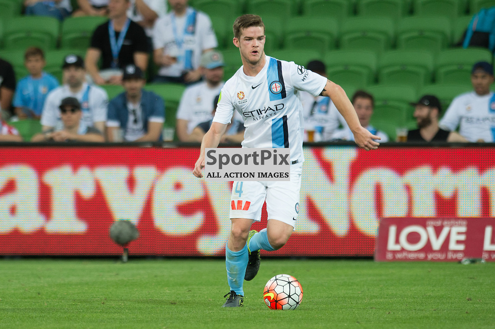 Connor Chapman of Melbourne City - Hyundai A-League,  25th October 2015, RD 3, Melbourne City FC v Central Coast Mariners with a win to City 3:1 © Mark Avellino | SportPix.org.uk