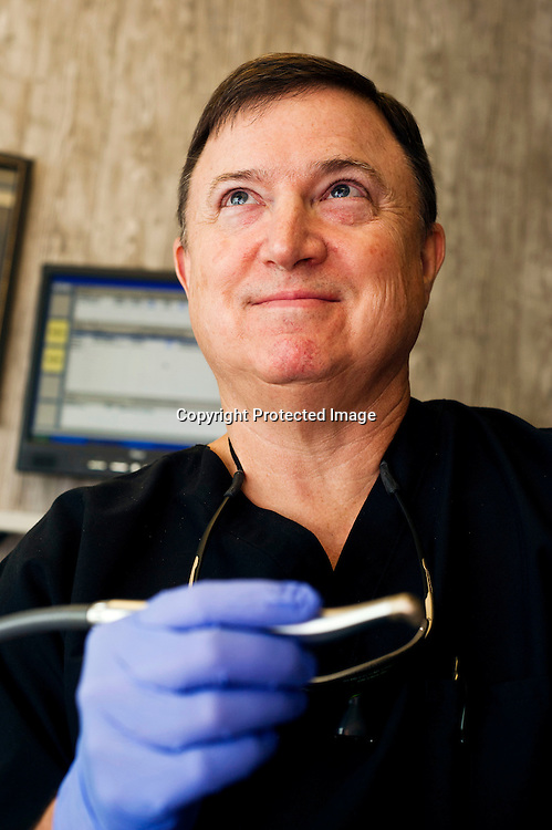Dr. Charles A. White, regional Periodontics Specialty Practice in Rogers, Arkansas. Portrait of Dr. Charles White in Rogers, Arkansas, for a magazine advertisement.