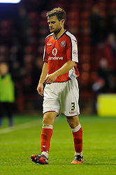 Walsall's Andy Taylor cuts a dejected figure - Photo mandatory by-line: Dougie Allward/JMP - Mobile: 07966 386802 26/08/2014 - SPORT - FOOTBALL - Walsall - Bescot Stadium - Walsall v Crystal Palace - Capital One Cup