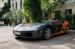 September 4, 2017 - Moscow, Russia - Russia, Moscow. Ferrari car of the Delimobil carsharing service  (Credit Image: © Russian Look via ZUMA Wire)