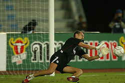 BANGKOK, THAILAND - Wednesday, July 23, 2003: Liverpool's goalkeeper Jerzy Dudek during a training session in at the Rajamangala National Stadium. (Pic by David Rawcliffe/Propaganda)