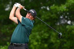 May 2, 2019 - Charlotte, NC, U.S. - CHARLOTTE, NC - MAY 02: Phil Mickelson plays a second ball from the 16th tee after his first ball went way right in round one of the Wells Fargo Championship on March 02, 2019 at Quail Hollow Club in Charlotte,NC. (Photo by Dannie Walls/Icon Sportswire) (Credit Image: © Dannie Walls/Icon SMI via ZUMA Press)