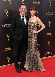 Michael Emmerson, Carrie Preston bei den Creative Arts Emmy Awards in Los Angeles / 100916<br /> <br /> <br /> *** at the Creative Arts Emmy Awards in Los Angeles on September 10, 2016 ***
