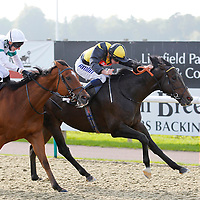 Welease Bwain and Ryan Moore winning the 2.30 race