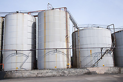 Used oil storage tanks at Liverpool docks England,