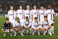 Fotball<br /> Foto: Inside/Digitalsport<br /> NORWAY ONLY<br /> <br /> Up: Francois Clerc, Sebastien Squillaci, Cris, Tiago, Jeremy Toulalan, Eric Abidal.<br /> Bottom: Gregory Coupet, Florent Malouda, Sidney Govou, Juninho Pernambucano, Fred<br /> Lagbilde Lyon<br /> <br /> Champions League 2006-2007<br /> 21 Feb 2007 (First knockout round)<br /> Roma - Olympique Lyon (0-0)