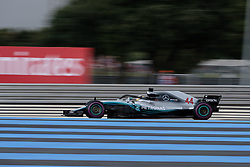 June 23, 2018 - Le Castellet, Var, France - Mercedes 44 Driver LEWIS HAMILTON (GBR) in action during the Formula one French Grand Prix at the Paul Ricard circuit at Le Castellet - France (Credit Image: © Pierre Stevenin via ZUMA Wire)
