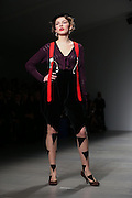 Vivienne Westwood Catwalk at Somerset House on day 3 of London Fashion Week February 15 2014.<br /> <br /> <br /> Photo by Ki Price