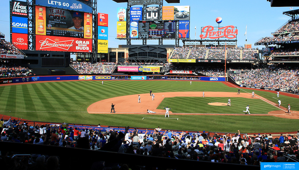 A panoramic view of Citi Field during the New York Mets V San Francisco Giants Baseball game at Citi Field, Queens, New York. 21st April 2012. Photo Tim Clayton