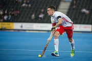 England's Phil Roper. England v China - Hockey World League Semi Final, Lee Valley Hockey and Tennis Centre, London, United Kingdom on 15 June 2017. Photo: Simon Parker