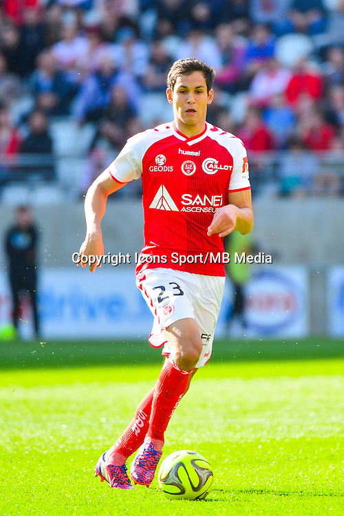 Aissa MANDI - 12.04.2015 - Reims / Nice - 32eme journee de Ligue 1 <br />Photo : Dave Winter / Icon Sport