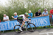 Dimension Data rider Ben King (USA) on the Côte de la Redoute climb during the 2018 Liège-Bastogne-Liège elite men's race on Sunday 22 April 2018.