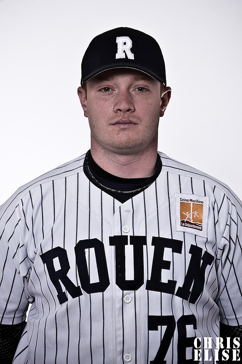 02 June 2010: Portrait of David Gauthier during day 1 of the 2010 Baseball European Cup in Brno, Czech Republic. First game is canceled due to a rainout.