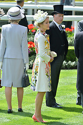 VISCOUNT & VISCOUNTESS LINLEY at the first day of the 2014 Royal Ascot Racing Festival, Ascot Racecourse, Ascot, Berkshire on 17th June 2014.
