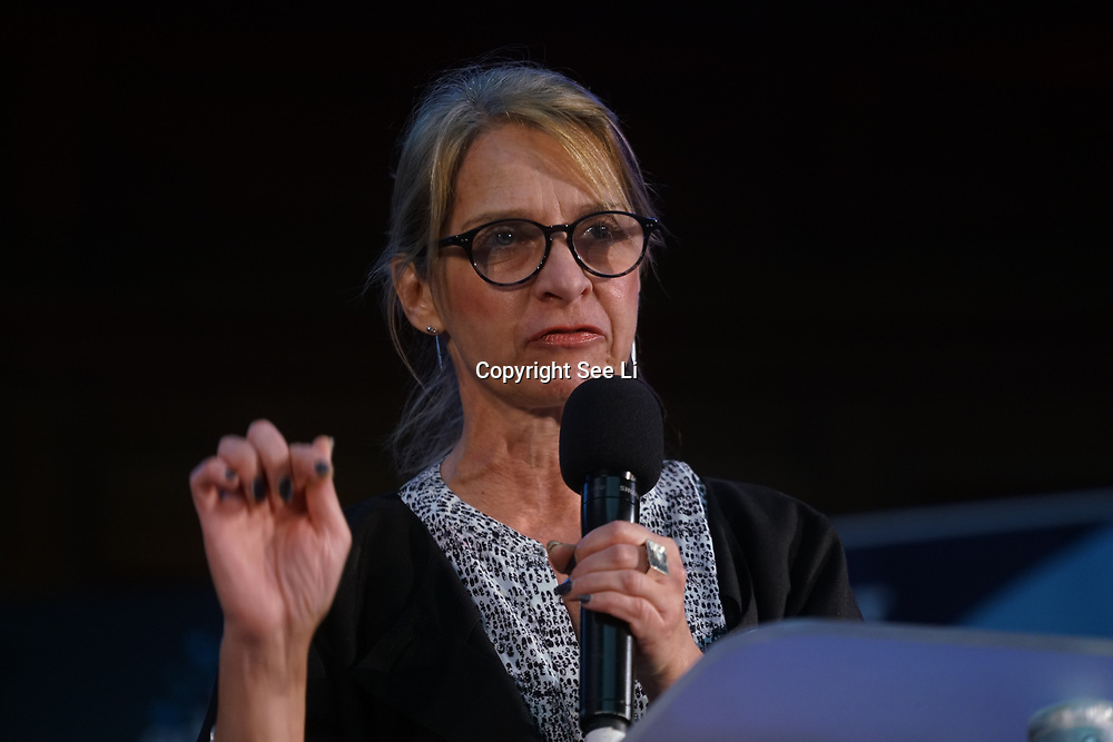 London, UK, 24th October 2017. Speaker Wera Hobhouse MP,Liberal Democrat Party at the Rally Against School Cuts with over 1,000 parents and school staff lobbying more than two-thirds of the MPs in England and Wales at Emmanuel Centre.