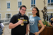 Laura Redec with Eugene Hughes from Baal, Co. Mayo at the Budweiser Ice Cold Summer BBQ, broadcast live on the Tony Fenton Show at The Galway Bay Hotel in Salthill. Photo:Andrew Downes.. .Both Duke Special and The Divine Comedy performed at the summer kick-off party and Today FM's Tony Fenton Show broadcast live from the hotel all afternoon...The 150 invited guests included Today FM listeners ad Budweiser Ice Cold Facebook fans from all over the country. Guests also won the chance to win a cool Grand in cash, meet Mr. Iceman and of course enjoy a pint of Budweiser Ice Cold, the coldest pint ever!..Enjoy Budweiser Ice Cold sensibly visit www.drinkaware.ie ..This event was strictly over 18's,..-ENDS-..FOR FURTHER INFORMATION PLEASE CONTACT:.Killian Burns / Aoiffe Madden..Killian.burns@ogilvy.com / aoiffe.madden@ogilvy.com.WHPR..Tel: 01 6690030.