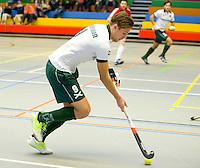 ARNHEM - Bjorn Kellerman van R'dam. , De mannen van Rotterdam tijdens de eerste dag van de zaalhockey competitie in de hoofdklasse, seizoen 2013/2014. COPYRIGHT KOEN SUYK