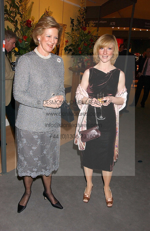 Left to right, QUEEN ANNE-MARIE OF GREECE and JANE HORROCKS at the British Antiques Dealers Association antiques & Fine art fair in aid of the charity Childline held at the Duke of York Square, Chelsea, London on 23rd March 2006.<br /><br />NON EXCLUSIVE - WORLD RIGHTS