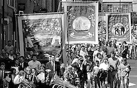 Riccall, Selby Coalfield and Stillingfleet Branch banners. 1992 Yorkshire Miners Gala, Barnsley.
