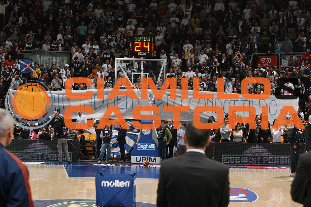 DESCRIZIONE : Bologna Lega A1 2007-08 Upim Fortitudo Bologna Lottomatica Virtus Roma<br /> GIOCATORE : Tifosi Striscione Repesa<br /> SQUADRA : Upim Fortitudo Bologna<br /> EVENTO : Campionato Lega A1 2007-2008 <br /> GARA : Upim Fortitudo Bologna Lottomatica Virtus Roma<br /> DATA : 30/03/2008<br /> CATEGORIA : <br /> SPORT : Pallacanestro <br /> AUTORE : Agenzia Ciamillo-Castoria/M.Marchi