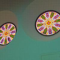 Alberto Carrera, Stained Glass, Church of Corpus Christi, Old Main Synagogue, Segovia, World Heritage Site UNESCO, Castilla y León, Spain, Europe.