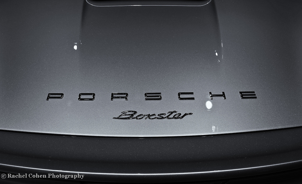 &quot;Porsche Boxster&quot; - B&amp;W<br /> <br /> A cool black and white image of the back of a Porsche Boxster and logo!!<br /> <br /> Cars and their Details by Rachel Cohen