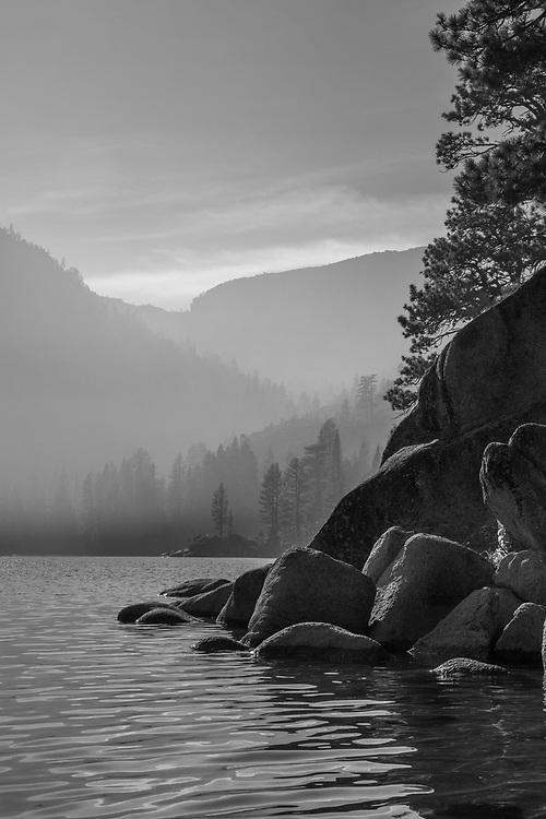 Emerald Bay.  Lake Tahoe Basin.  California.<br /> November, 2017.