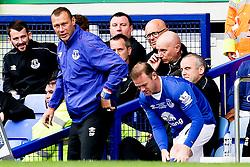 Everton's Wayne Rooney prepares to come on a substitute ahead of Duncan Ferguson - Mandatory by-line: Matt McNulty/JMP - 02/08/2015 - SPORT - FOOTBALL - Liverpool,England - Goodison Park - Everton v Villareal - Pre-Season Friendly