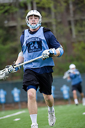 04 April 2008: North Carolina Tar Heels men's lacrosse midfielder Mike Munnelly (24) during practice in Chapel Hill, NC.