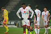MK Dons Chuks Aneke(10) after the EFL Sky Bet League 1 match between Milton Keynes Dons and Bristol Rovers at stadium:mk, Milton Keynes, England on 3 March 2018. Picture by Nigel Cole.