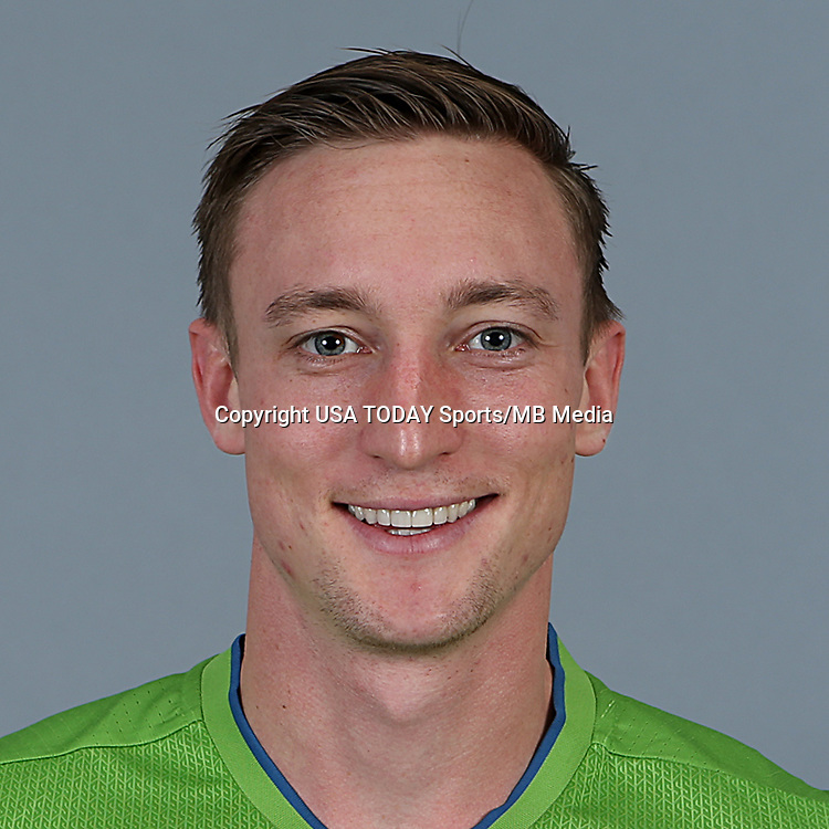 Feb 25, 2016; USA; Seattle Sounders FC player Dylan Remick poses for a photo. Mandatory Credit: Corky Trewin-USA TODAY Sports