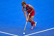 Heesun Jang of Korea (22) during the Vitality Hockey Women's World Cup 2018 Pool A match between Korea and China at the Lee Valley Hockey and Tennis Centre, QE Olympic Park, United Kingdom on 29 July 2018. Picture by Martin Cole.