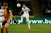 Leeds United midfielder Mateusz Klich (43)  during the EFL Sky Bet Championship match between Hull City and Leeds United at the KCOM Stadium, Kingston upon Hull, England on 2 October 2018.